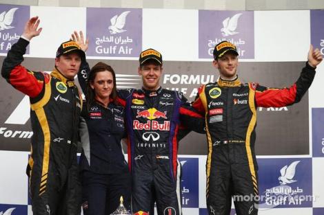 2013 Gulf Air Bahrain GP Podium