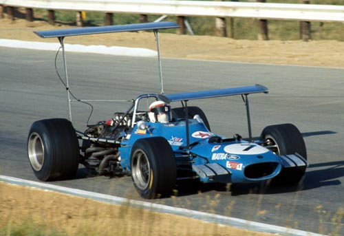 Jackie Stewart in his Matra Cosworth MS10 at the South African GP