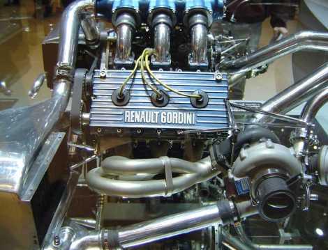 Renault Gordini V6 1.5 litre turbo