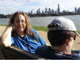 Waiting in the sunshine by Albert Park Lake on Sunday