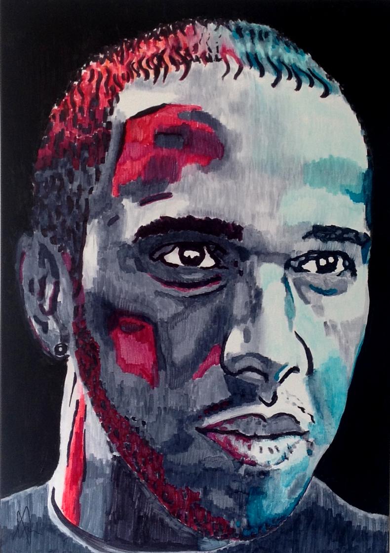 Lewis Hamilton Painting Lewis Hamilton 2