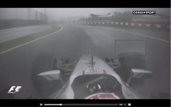 View of Kevin Magnussen, 2 laps prior to Sutil crash. Dunlop curve.