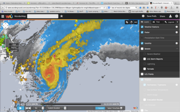 Japan overlaid by the storm 3pm