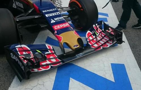 One for the tech lovers, the new front wing on the STR10