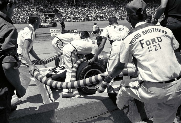 Indianapolis 500, Indianapolis, IN, 1965. Jim Clark in the pits. CD#0554-3252-2846-24.