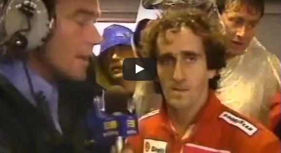 prost interviewed in australia 1989