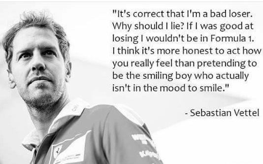 vettel admits to being a bad loser after mexico 2016