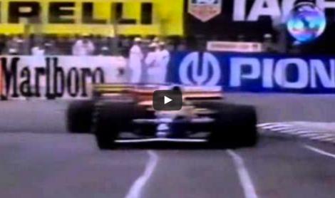 mansell and senna crash, australia 1992