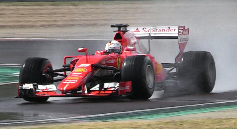 New video footage of Vettel crash – Pirelli wet test abandoned