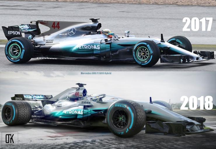 Halo: Hamilton's 2018 car compared to last year | thejudge13